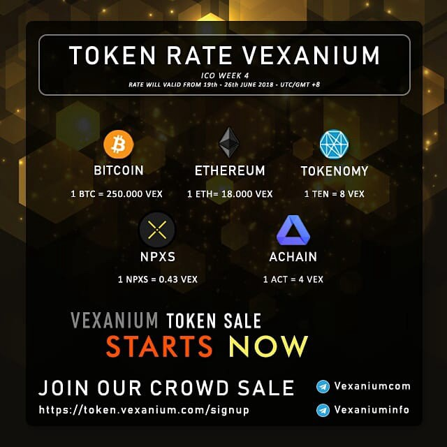 Update | How to Participate in VEX Token Sale (ICO)