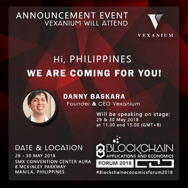Vexanium Roadshow at Blockchain Applications and Economics Forum2018