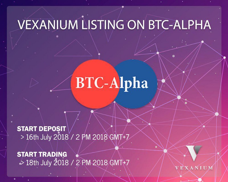 VEX Exchange Listing: BTC-Alpha—Vexanium