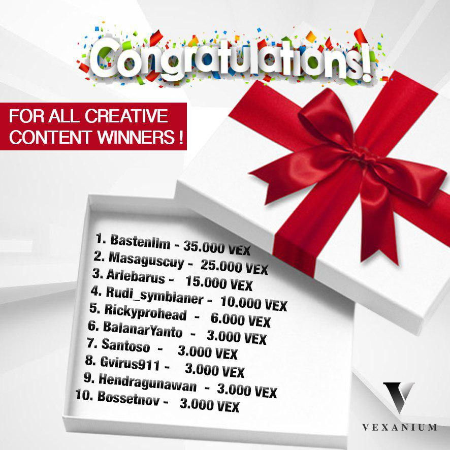 Creative Content Campaign Winner Announcement