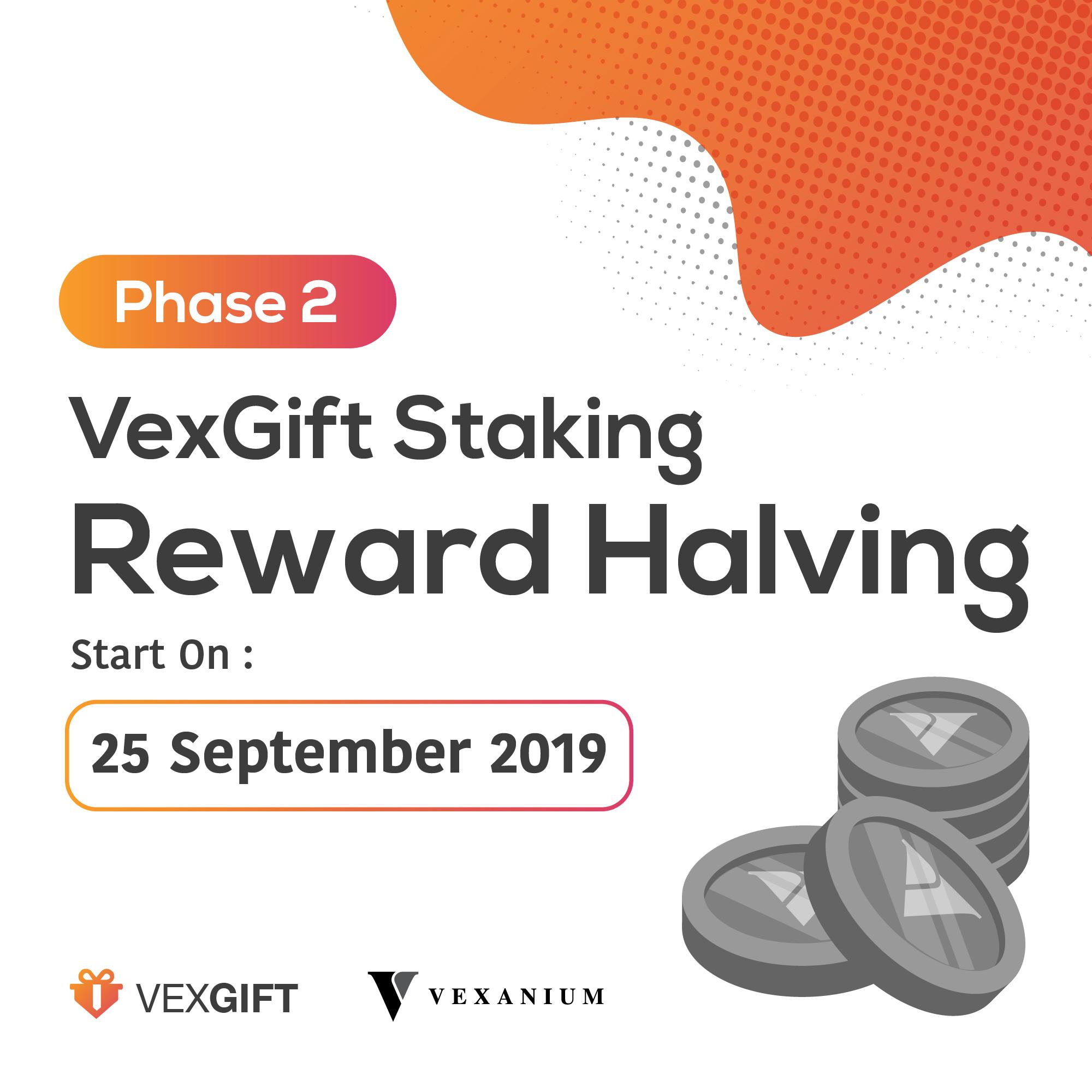 VexGift Staking Reward Halving Phase 2 Announcement