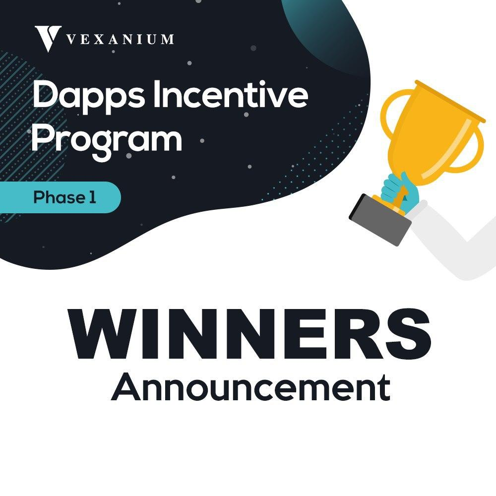 Dapps Incentive Program Phase 1 Winners Announcement