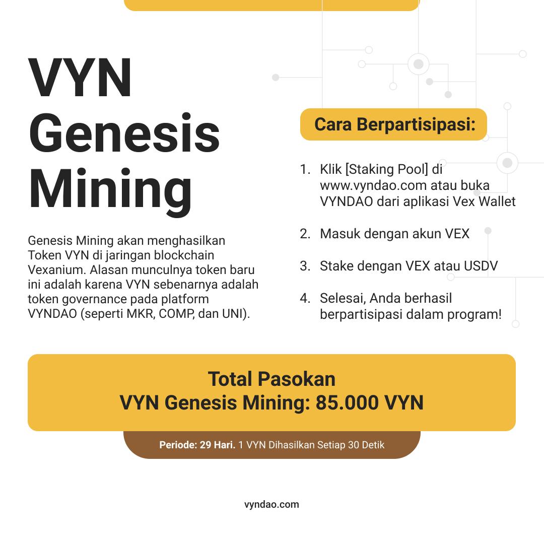 Program Genesis Mining Token VYN dari VYNDAO