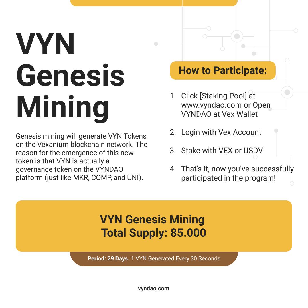 VYN Genesis Mining Program