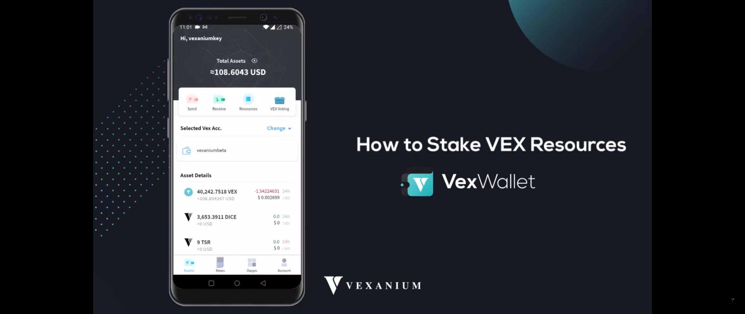 Cara Stake VEX Resource dengan Vex Wallet
