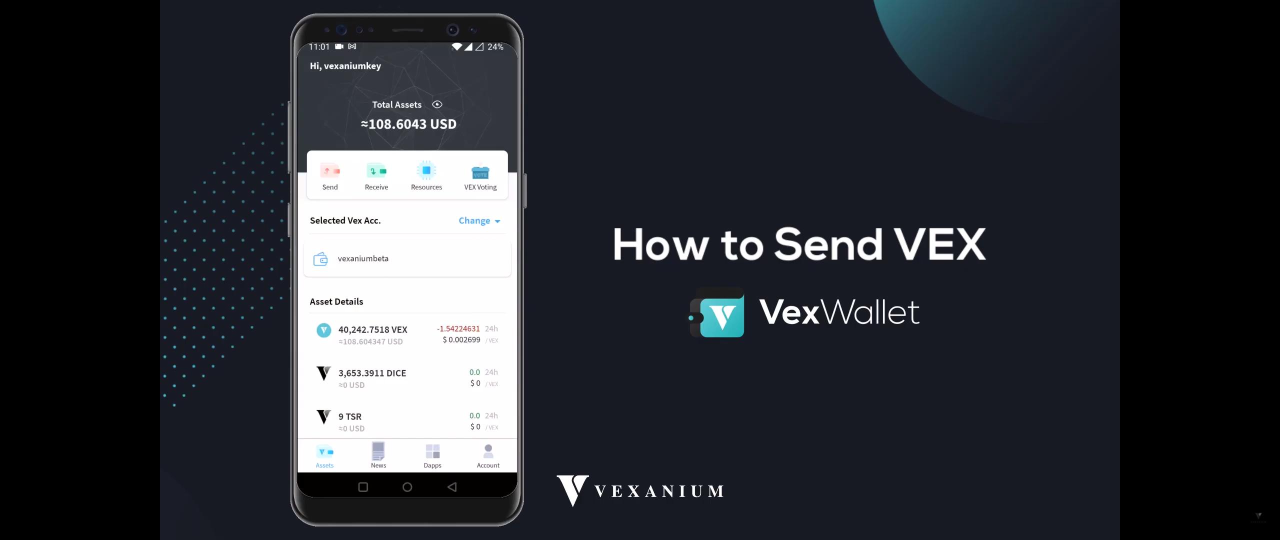 Cara Mengirim VEX dengan Vex Wallet