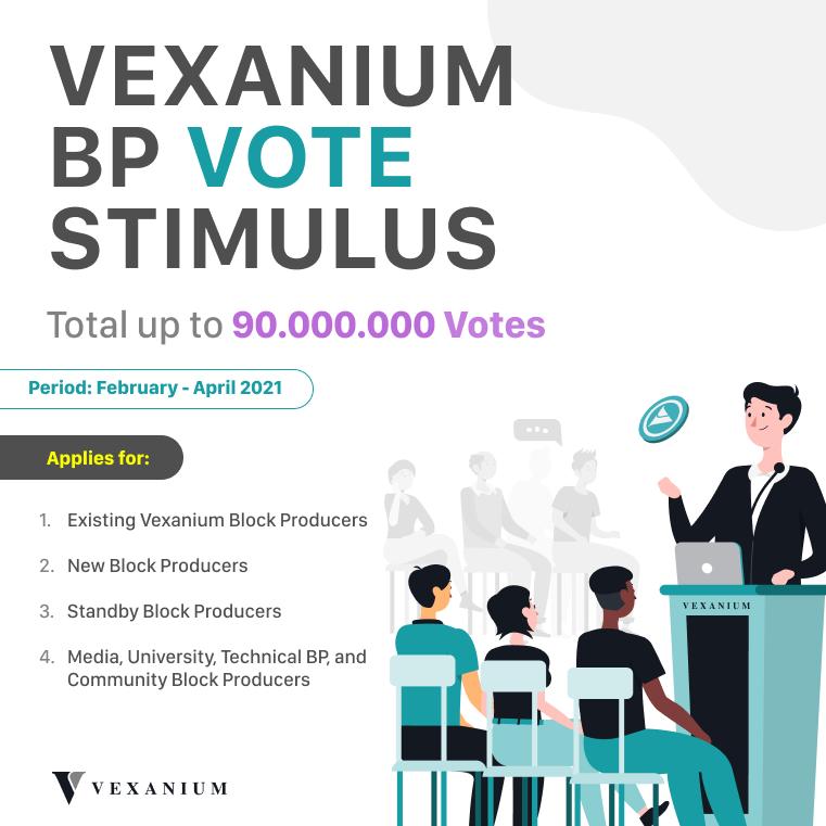 Vexanium BP Vote Stimulus 2021